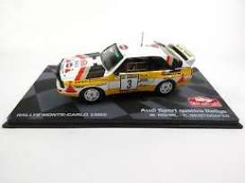 Audi  - Quattro Sports #3 1985 yellow/white - 1:43 - Magazine Models - RAAudi1985 - MagRAAudi1985 | Tom's Modelauto's