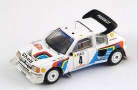 Peugeot  - 205 1986 white/blue/red - 1:43 - Magazine Models - RA205-1986 - magRA205-1986 | Tom's Modelauto's