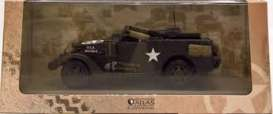 Military Vehicles  - M3 Scout Car green/sand - 1:43 - Magazine Models - MILBL20 - magMILBL20 | Tom's Modelauto's