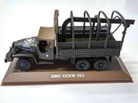 Military Vehicles  - GMC CCKW 353 green - 1:43 - Magazine Models - MILBL02 - magMILBL02 | Tom's Modelauto's