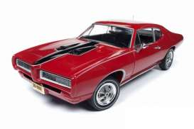 Pontiac  - GTO Royal Bobcat 1968 red/black - 1:18 - Auto World - AMM1153 - AMM1153 | Toms Modelautos