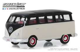 Volkswagen  - Type 2 1965 white/black - 1:64 - GreenLight - 37180B - gl37180B | Tom's Modelauto's