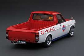 Nissan  - Sunny Truck Long white/red - 1:18 - Ignition - IG1435 - IG1435 | Toms Modelautos