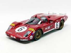 Ferrari  - 512S Long Tail 1970 red/white - 1:18 - CMR - cmr028 | Tom's Modelauto's