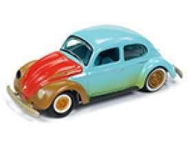 Volkswagen  - Beetle split window 1951 green with dirt - 1:64 - Johnny Lightning - SP054 - JLSP054A | Toms Modelautos