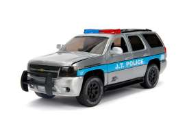 Chevrolet  - Tahoe 2010 chrome/black/blue - 1:24 - Jada Toys - 45003 - jada45003 | Tom's Modelauto's