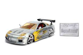 Mazda  - RX7 1993 chrome/yellow - 1:24 - Jada Toys - 45004 - jada45004 | Tom's Modelauto's
