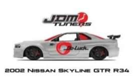 Nissan  - Skyline GTR R34 2002 chrome/red - 1:24 - Jada Toys - 45019 - jada45019 | Tom's Modelauto's
