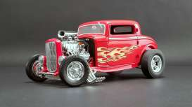 Ford  - Hot Rod *Flamethrower* 1932 red/flames - 1:18 - Acme Diecast - 1805016 - acme1805016 | Tom's Modelauto's