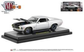 Ford  - Mustang Boss 1970 silver/black - 1:24 - M2 Machines - 40300-71A - M2-40300-71A | Tom's Modelauto's