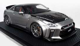 Nissan  - GT-R gun grey - 1:18 - Ignition - IG1533 - IG1533 | Toms Modelautos