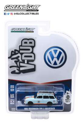 Volkswagen  - Type 3  1965 blue/orange - 1:64 - GreenLight - 29960C - gl29960C | Tom's Modelauto's
