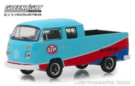 Volkswagen  - Type 2 1976 blue/red - 1:64 - GreenLight - 29960E - gl29960E | Tom's Modelauto's