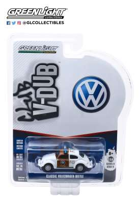 Volkswagen  - Beetle brown/white - 1:64 - GreenLight - 29960F - gl29960F | Tom's Modelauto's