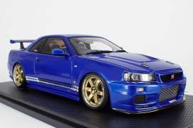 Nissan  - GT-R blue - 1:18 - Ignition - IG1472 - IG1472 | Tom's Modelauto's
