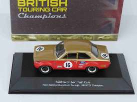 Ford  - Escort MK1 1968 red/gold - 1:43 - Magazine Models - 4672101 - magBT4672101 | Tom's Modelauto's