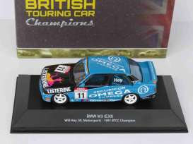 BMW  - M3 (E30) 1991 blue/black - 1:43 - Magazine Models - 4672102 - magBT4672102 | Tom's Modelauto's