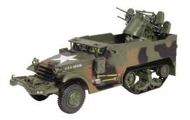 Military Vehicles  - Multiple Gun Motor army green - 1:43 - Magazine Models - MILBL03 - magMILBL03 | Toms Modelautos