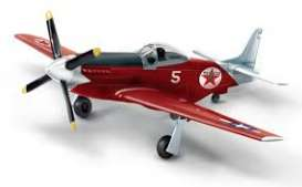 North American Aviation  - P-51D *Texaco* red/black/white - 1:44 - Auto World - CP7490 - AWCP7490 | Tom's Modelauto's