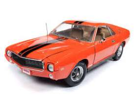 AMC  - AMX Hardtop 1969 orange/black - 1:18 - Auto World - AMM1170 - AMM1170 | Tom's Modelauto's