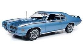 Pontiac  - GTO Judge 1969 blue - 1:18 - Auto World - AMM1171 - AMM1171 | Toms Modelautos