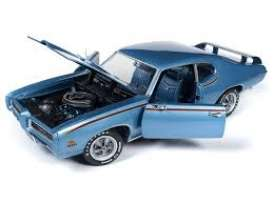 Pontiac  - GTO Judge 1969 blue - 1:18 - Auto World - AMM1171 - AMM1171 | Tom's Modelauto's