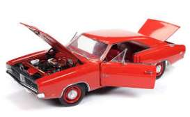 Dodge  - Charger 1969 red - 1:18 - Auto World - AMM1174 - AMM1174 | Tom's Modelauto's