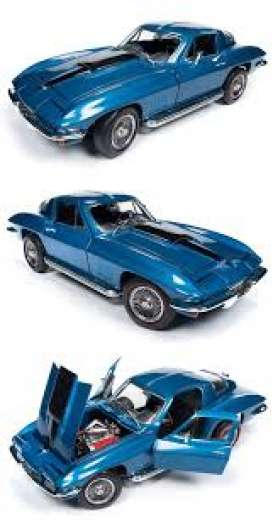 Chevrolet  - Corvette Coupé 1969 blue - 1:18 - Auto World - AMM1176 - AMM1176 | Tom's Modelauto's