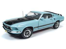 Ford  - Mustang Mach 1 1969 violet - 1:18 - Auto World - AMM1181 - AMM1181 | Tom's Modelauto's