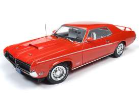 Mercury  - Cougar 1969 blue - 1:18 - Auto World - AMM1183 - AMM1183 | Toms Modelautos