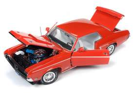 Mercury  - Cougar 1969 blue - 1:18 - Auto World - AMM1183 - AMM1183 | Tom's Modelauto's