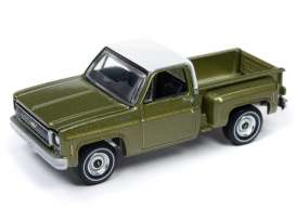 Chevrolet  - Cheyenne green/white - 1:64 - Auto World - SP024B - AWSP024B | Tom's Modelauto's