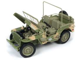 Jeep  - Willys army green - 1:18 - Auto World - ML005A - AWML005A | Toms Modelautos