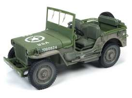 Jeep  - Willys olive - 1:18 - Auto World - ML005B - AWML005B | Tom's Modelauto's