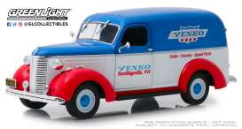 Chevrolet  - Panel Truck 1939 red/white/blue - 1:24 - GreenLight - 85041 - gl85041 | Tom's Modelauto's