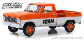 Ford  - F-100 1967 orange/white - 1:24 - GreenLight - 85042 - gl85042 | Tom's Modelauto's