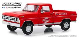 Ford  - F-100 1971 red - 1:24 - GreenLight - 85043 - gl85043 | Tom's Modelauto's