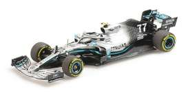 Mercedes Benz Petronas - W10 2019 silver-green - 1:43 - Minichamps - 410190077 - mc410190077 | Toms Modelautos