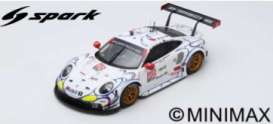Porsche  - 911 2018 white/red/black - 1:18 - Spark - 18US005 - spa18US005 | Toms Modelautos