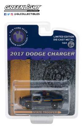 Dodge  - Charger 2017 blue/yellow - 1:64 - GreenLight - 51178 - gl51178 | Tom's Modelauto's