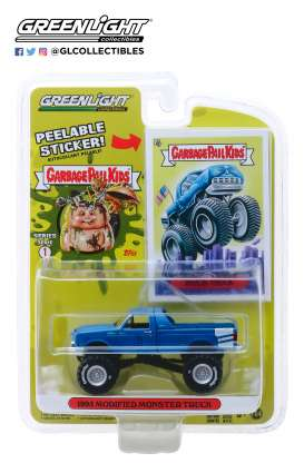 Monster Truck  - 1995 blue - 1:64 - GreenLight - 54010C - gl54010C | Tom's Modelauto's