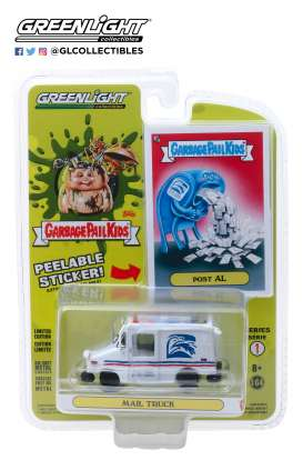 non  - Mail Truck white/red/blue - 1:64 - GreenLight - 54010E - gl54010E | Tom's Modelauto's