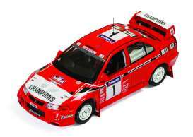 Mitsubishi  - Lancer Evo VI #1 1999 red/white - 1:43 - IXO Models - KB1037 - ixKB1037 | Tom's Modelauto's