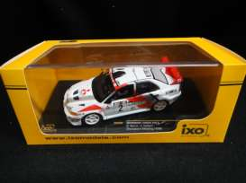 Mitsubishi  - Lancer Evo V #2 1998 white/red - 1:43 - IXO Models - KB1066 - ixKB1066 | Toms Modelautos