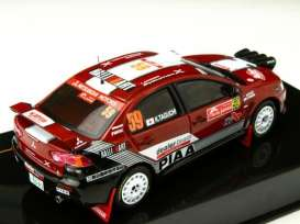 Mitsubishi  - Lancer Evo X 2008 white/red - 1:43 - IXO Models - KB1042 - ixKB1042 | Tom's Modelauto's