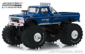 Ford  - F250 Monster Truck 1974 blue - 1:43 - GreenLight - 88011 - gl88011 | Tom's Modelauto's