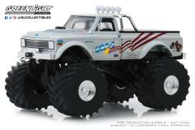 Chevrolet  - K-10 Monster Truck 1970 white - 1:43 - GreenLight - 88012 - gl88012 | Tom's Modelauto's
