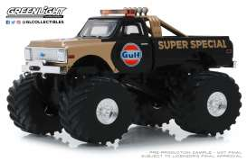 Chevrolet  - K-10 Monster Truck 1971 black/gold - 1:43 - GreenLight - 88013 - gl88013 | Tom's Modelauto's