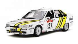 Renault  - 21 Turbo 1988 white/yellow - 1:18 - OttOmobile Miniatures - ot317 - otto317 | Tom's Modelauto's