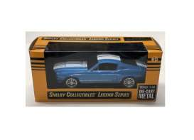 Shelby  - GT500 1967 blue/white - 1:43 - Shelby Collectibles - 14367bl - shelby14367bl | Tom's Modelauto's